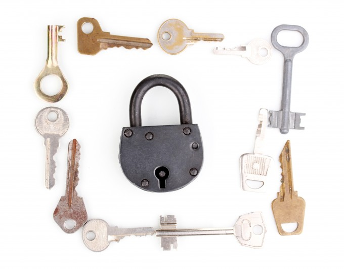 rusty keys old locks